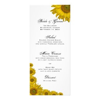 Sunflower Edge Wedding Menu