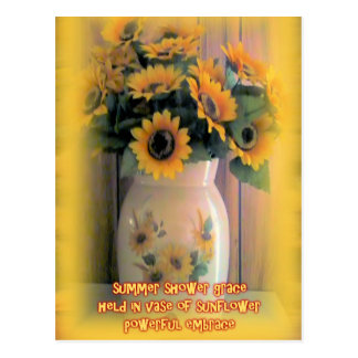 Sunflower Embrace Postcard