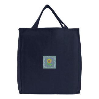 Sunflower Embroidered Tote Bags