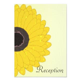 Sunflower Evening Reception Wedding 13 Cm X 18 Cm Invitation Card