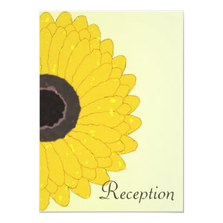 Sunflower Evening Reception Wedding Card