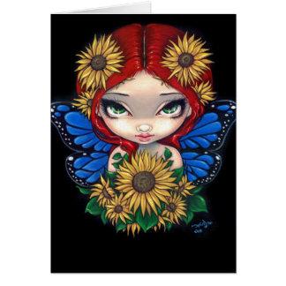 Sunflower Fairy Greeting Card