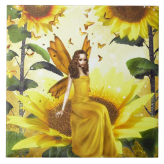 Sunflower Fairy Tile