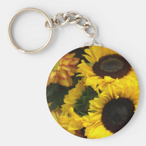 Sunflower Fall Flowers Key Chains