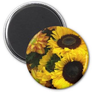 Sunflower Fall Flowers Refrigerator Magnets