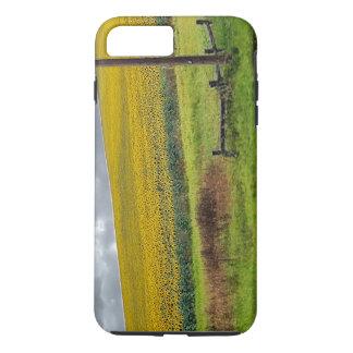 Sunflower Farm, wooden fence & phone pole iPhone 7 Plus Case