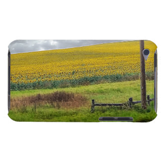 Sunflower Farm, wooden fence & phone pole iPod Touch Case-Mate Case