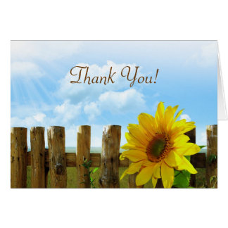 Sunflower Fence Bridal Party Thank You Card