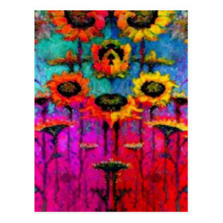 Sunflower Field Art Gifts by Sharles Postcard