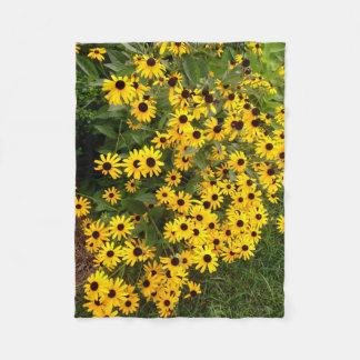 Sunflower Field Fleece Blanket