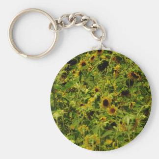 Sunflower field key chain