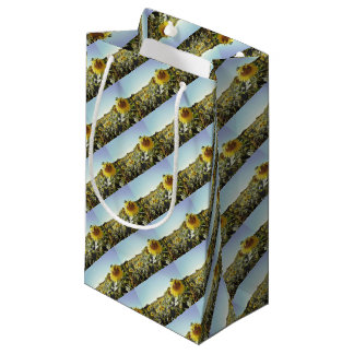 Sunflower field small gift bag