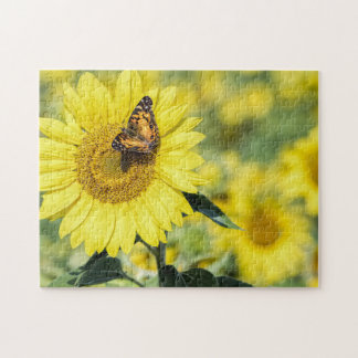 Sunflower Field with Butterfly Puzzle