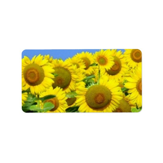 Sunflower Fields Address Label