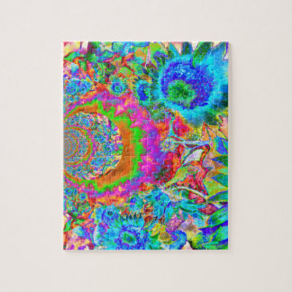 Sunflower Fields Forever - blue Jigsaw Puzzle