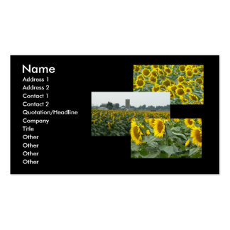 Sunflower Fields Forever! Business Card