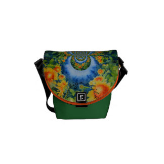 Sunflower Fields forever  - indigo child Courier Bags
