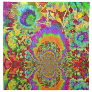 Sunflower Fields Forever - orange Napkin