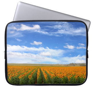 Sunflower Fields Computer Sleeves