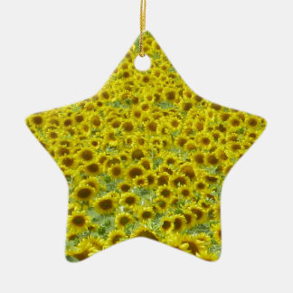 Sunflower fields Limousin Christmas Ornament