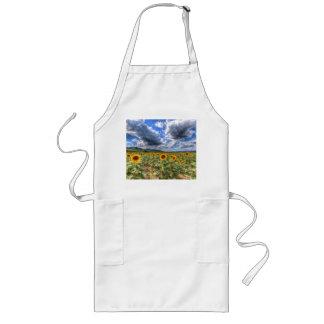 Sunflower Fields Of Summer Long Apron