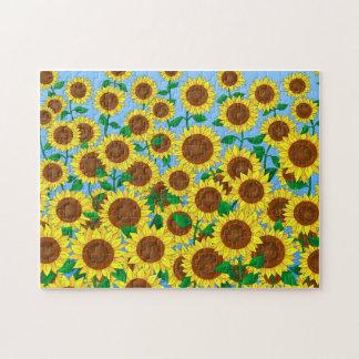 Sunflower Fields Jigsaw Puzzle
