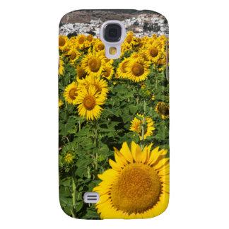 Sunflower fields, white hill town of Bornos Galaxy S4 Case