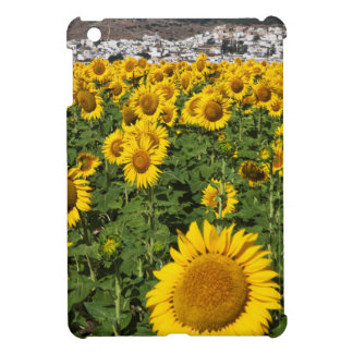 Sunflower fields, white hill town of Bornos iPad Mini Case