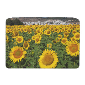 Sunflower fields, white hill town of Bornos iPad Mini Cover
