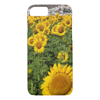 Sunflower fields, white hill town of Bornos iPhone 8/7 Case