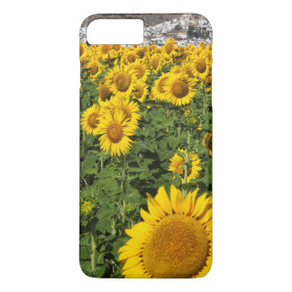 Sunflower fields, white hill town of Bornos iPhone 8 Plus/7 Plus Case