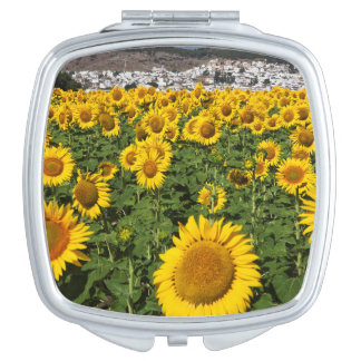 Sunflower fields, white hill town of Bornos Mirror For Makeup