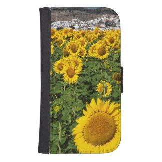 Sunflower fields, white hill town of Bornos Samsung S4 Wallet Case