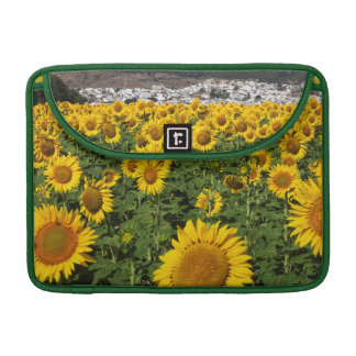 Sunflower fields, white hill town of Bornos Sleeve For MacBook Pro
