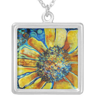Sunflower, Fine Art Necklace (TBA Winner 3/9/12)