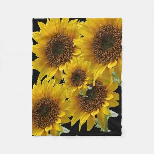 sunflower fleeCe blanket for Her