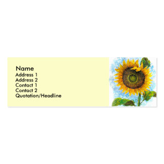Sunflower Flora Painting - Multi Double-Sided Mini Business Cards (Pack Of 20)