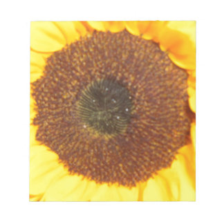 Sunflower Floral Bright Yellow Memo Notepad