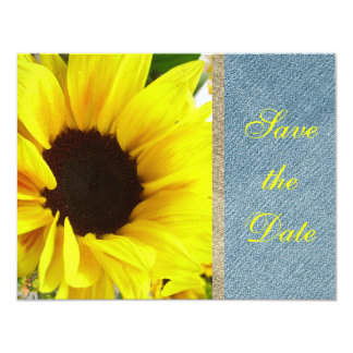 Sunflower Floral Country Modern Bride Wedding 4.25x5.5 Paper Invitation Card