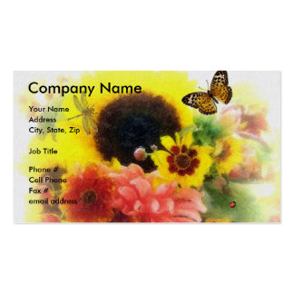 Sunflower Floral Design Business Cards