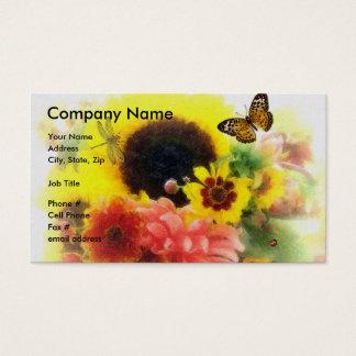 Sunflower Floral Design Business Card