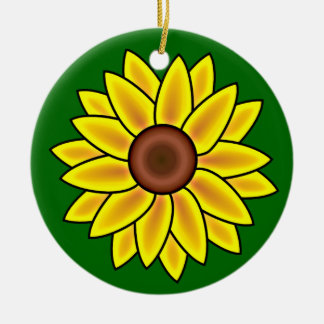 Sunflower Flower Ornament