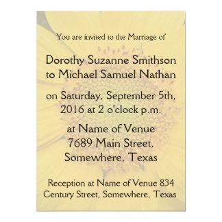 Sunflower Flowers Butterfly Floral Garden Wedding 17 Cm X 22 Cm Invitation Card