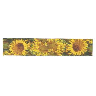 Sunflower Flowers Floral Garden Table Runner