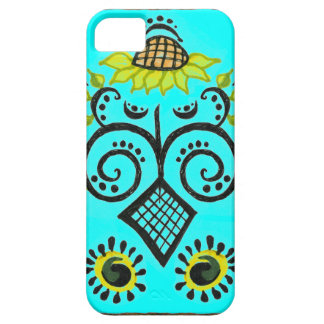 Sunflower Folk Pattern by Alexandra Cook Barely There iPhone 5 Case