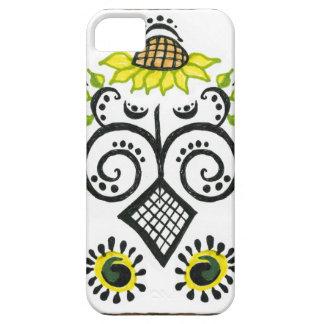 Sunflower Folk Pattern by Alexandra Cook iPhone 5 Cases