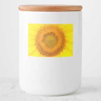 Sunflower Food Container Label (select size)