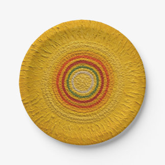"""Sunflower for All Seasons 7"""" 7 Inch Paper Plate"""