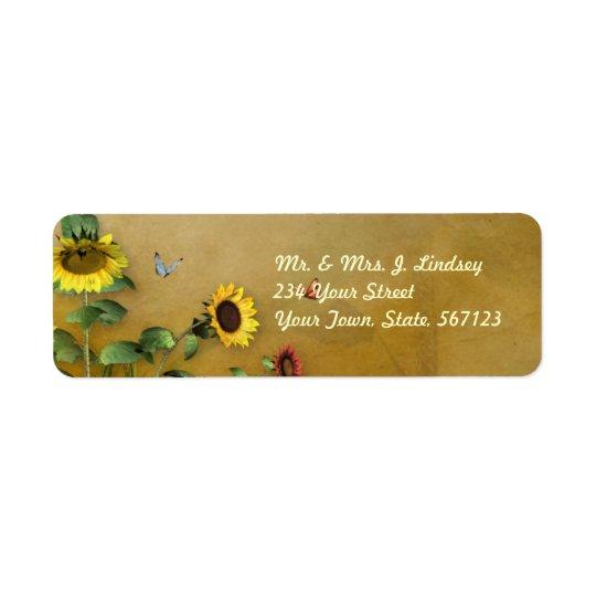 Sunflower Garden 1 Return Address Label
