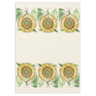 Sunflower Garden Floral Flowers Tablecloth